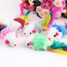 10tlg Katze Haustier Spielzeug Feder Maus Spielangel Katzenangel-Glocke-Neu
