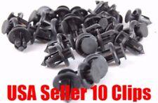 10 x Nylon Black Front Rear Bumper cover Push-Type Retainer Clip For Honda Acura