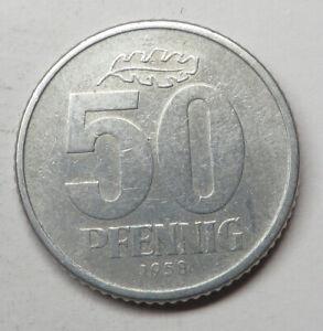 German-Democratic Republic 50 Pfennig 1958A Aluminum KM#12.1