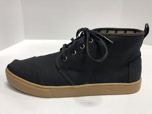 Toms Bota Heritage Black Canvas Cupsole Sneakers Men's Size 11M