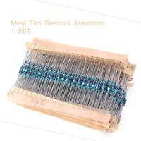 3120pcs 156 Values 1 ohm-10M ohm 1/4W 1% Metal Film Resistors Assortment Kit Set