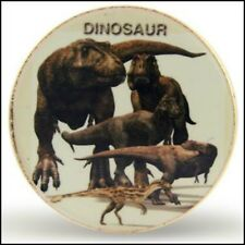 Collectors One Ounce Clad Dinosaurs Colourised Commemorative Coin MINT CONDITION