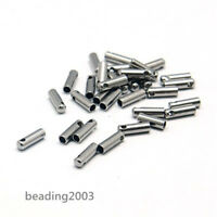 20pcs 304 Stainless Steel Necklace Cord End Tip Caps Tube 7x2mm Jewelry Findings
