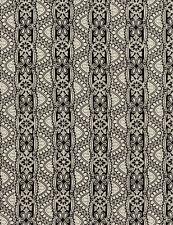 Tessuto 100% cotone senza tempo in pizzo nero/bianco C4788