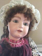 30� Antique Bisque Head 1078 Simon Halbig 17 Repro Seeley Body Doll