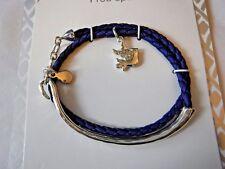 Vera Bradley Bird Wrap Bracelet Silver Tone with Blue 15117