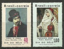 BRAZIL. 1971. Stamp Day Set. SG: 1323/24. Unused.