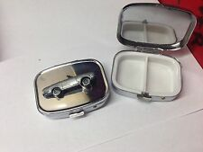 Bond Equipe 2Lt Convertible ref31 pewter effect car on a  silver metal pill box
