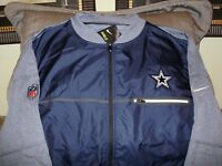 NFL Dallas Cowboys Nike Shield Navy Blue Full Zip Golf Hybrid Jacket Men's 2XL