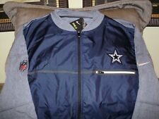 NFL Dallas Cowboys Nike Shield Navy Blue Full Zip Golf Hybrid Jacket Men's XL