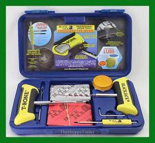 "BlackJack Passenger Tire Repair Kit T-Bone Handles 20 4"" Plugs Blue Case KT-330B"