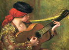 "RENOIR - Spanish Woman with Guitar 1898 - *FRAMED* CANVAS ART 18x12"""