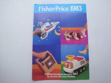 Catalogue jeux jouets Fisher Price campagne publicité 1983 vintage little people