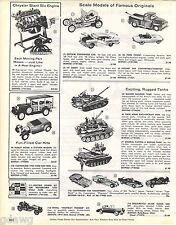 1963 ADVERT Toy Model Army Tank General Patton II Walker Bulldog Twin 40MM Cars