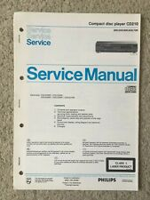 Service Manual Compact Disc CD Player CD210 COMPLETE