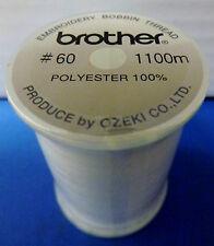 BROTHER Macchina da Cucire Bianco Ricamo Bobbin thread 1100M (metri) - ebt-cen