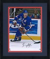 """Frmd Brian Leetch New York Rangers Signed 16"""" x 20"""" Blue Jersey Skating Photo"""