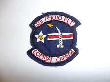 c0085 Vietnam US Air Force 601st Photo Flt Flight Combat Camera patch R10C