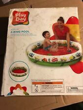 White Water inflatable Swim Pool Ages 3+ play outdoor 4 ft x 10 in Cars New