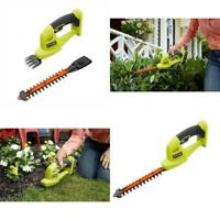 RYOBI Cordless Hedge Trimmer 18-V Lithium-Ion 5/16 in. Cut Capacity Dual Action