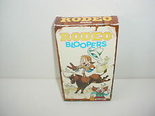 Rodeo Bloopers VHS Video
