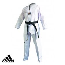 New adidas Taekwondo Uniform ADICHAMP3 Uniform Set w/WHITE V-Neck size 5(190cm)
