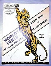 World Series Program 1934 Detroit Tigers / St. Louis Cardinals 4 Autographs Rare