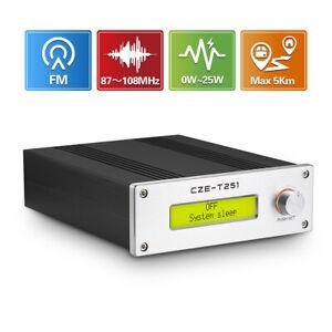0-25W Adjustable FM Transmitter for Church Long Range Radio Station Broadcast