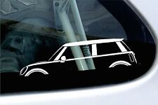 2x car silhouette stickers - for BMW Mini Cooper S ,R56