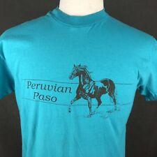 Peruvian Peso 1988 Vintage T-Shirt Large Elk Ridge Ranch Single Stitch USA Rodeo