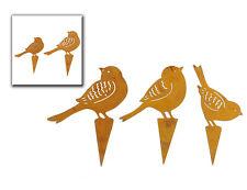 Beetstecker Vogel Dekoration Amsel 23333 Figur Beet Terrasse Edelrost Garten