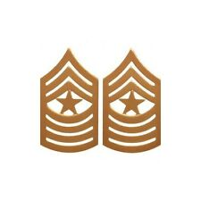 USMC E-9 Sergeant Major Collar Rank Pin On Gold Satin
