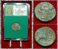 ANCIENT GREEK COIN MACEDONIA THESSALONICA DIONYSOS ON OBVERSE GOAT ON REVERSE