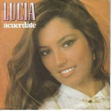 LUCIA-ACUERDATE + ES COMO UN SUEÑO SINGLE VINILO 1982 PROMOCIONAL SPAIN