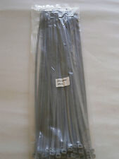 Silver/Grey Cable Ties/Tie Wraps for Car Wheel Trims 370mm x 4.8mm Packs 25