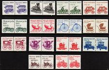 #1897 - 1908  1st Transportation Coil Pairs set/14 - MNH
