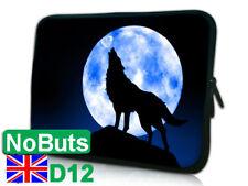 "Animal lobo Luna D12 10"", 10.1"", 10.2"" Tablet Notebook Manga iPad caso suave Reino Unido"