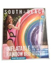 South Beach Rainbow Inflatable Swimming Pool Lake Float - Large