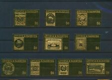 LO03658 Antigua & Barbuda gold foil stamp anniversary fine lot MNH