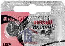 Maxell 301 SR43W D301 V301 V528 SR43 226 LR43 Battery 0% MERCURY  (1PC)