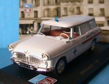SIMCA MARLY 1959 AMBULANCE MUNICIPALE IXO ALTAYA 1/43 BREAK WHITE WEISS
