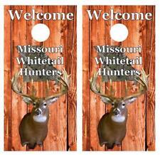 Welcome Missouri Whitetail Deer Hunters Cornhole Board Skin Wrap FREE SQUEEGEE
