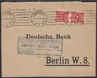DR Mi Nr. 225 MeF Bank Brief, Hannover Oppenheimer - Berlin Dt. Bank 11.11.1922