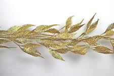 Gisela Graham Natale Glitter Oro FELCE ghirlanda 180 cm