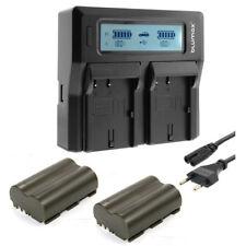 Blumax Dual LCD Ladegerät + 2x Accu BP-511 BP-511A 5D 10D 20D 20Da 30D D30 D60
