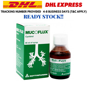 60ml MUCOFLUX Syrup Cyclidrol Relief Cough DHL Shipping