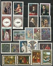 Worldwide: Small lot of different stamps thematic paintings some val high. Wo232