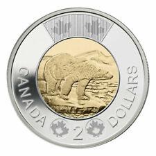 2016 Canada 2 (Two) Dollars $2 Coin, Toonie, Polar Bear,