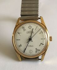 Vintage Jason Gents Masonic Hand Winding Watch