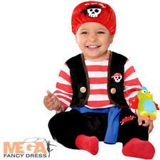 Baby Buccaneer Boys Fancy Dress Pirates Caribbean Book Toddler Infants Costume